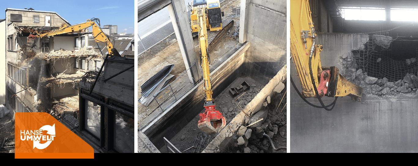Gebäudeabbruch Teilabbruch Komplettabriss Wohn-Gewerbebau